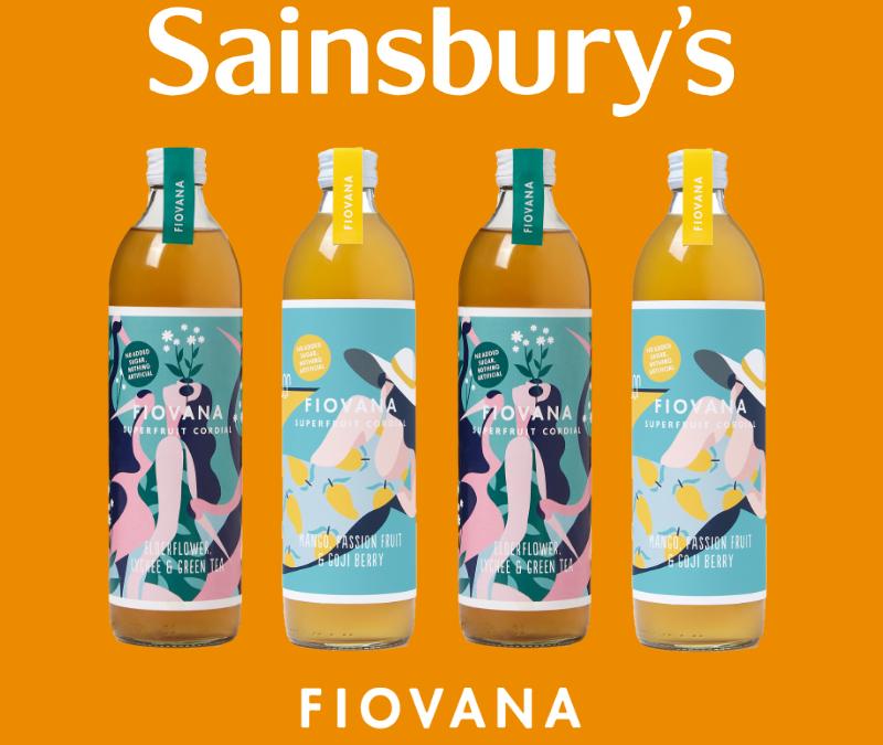 Fiovana Drinks launches in Sainsburys